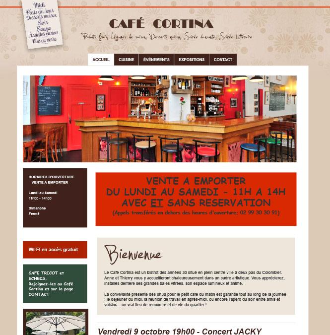 Site internet pour un restaurant