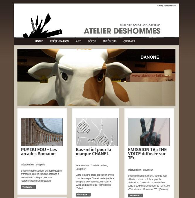 Site Internet pour un Sculpteur