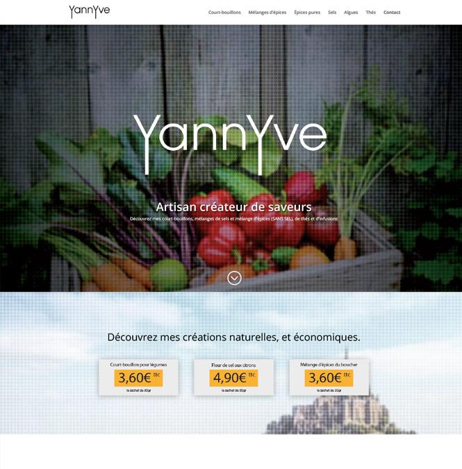 Site internet pour un commerçant
